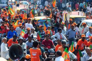 BJP candidate campaign for Lok Sabha Election in Bangalore